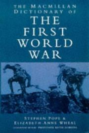 Cover of: Macmillan Dictionary of the First World War