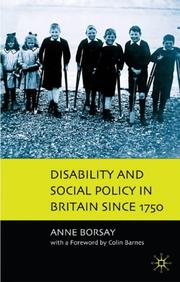 Cover of: Disability and Social Policy in Britain Since 1750