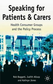 Cover of: Speaking for Patients and Carers