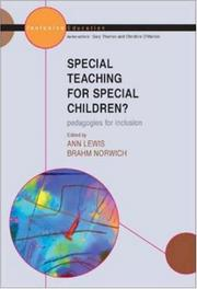 Cover of: Special Teaching for Special Children (Inclusive Education)