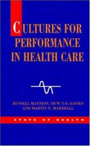 Cover of: Cultures for Performance in Health Care (State of Health)