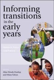 Cover of: Informing Transitions in the Early Years