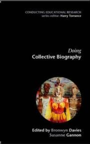 Cover of: Doing Collective Biography (Conducting Educational Research)