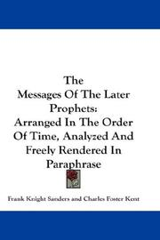 Cover of: The Messages Of The Later Prophets