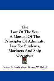 Cover of: The Law Of The Sea