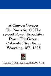 Cover of: A Canyon Voyage