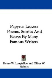 Cover of: Papyrus Leaves: Poems, Stories And Essays By Many Famous Writers