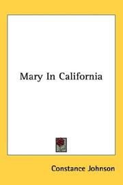 Cover of: Mary In California
