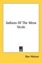 Cover of: Indians Of The Mesa Verde