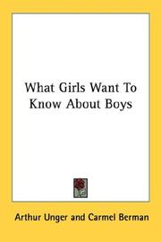 Cover of: What Girls Want To Know About Boys