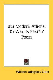 Cover of: Our Modern Athens