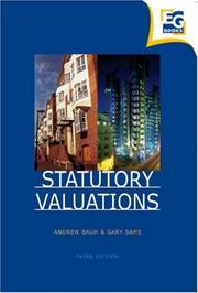 Cover of: Statutory Valuations
