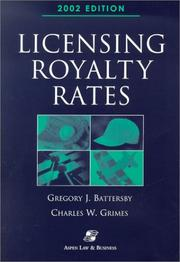 Cover of: Licensing Royalty Rates 2002