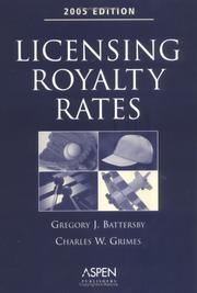Cover of: Licensing Royalty Rates, 2005 Edition