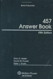 Cover of: 457 Answer Book, Fifth Edition