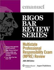 Cover of: Multistate Professional Responsibility Exam (MPRE) Review