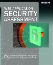 Cover of: Web Application Security Assessment (Pro-Developer)