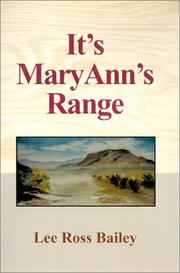 Cover of: It's Mary Ann's Range