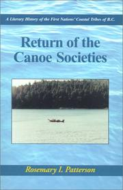 Cover of: Return of the Canoe Societies