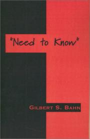 "Cover of: ""Need to Know"""