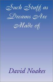 Cover of: Such stuff as dreams are made of