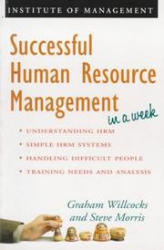 Cover of: Successful Human Resource Management in a Week (Successful Business in a Week)