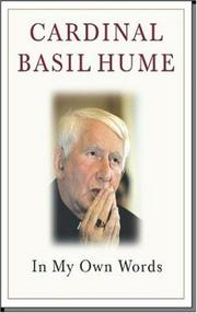 Cover of: Cardinal Basil Hume (In My Own Words)