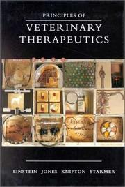 Cover of: Principles of Veterinary Therapeutics