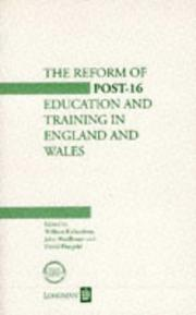 Cover of: Reform of Post-16 Education and Training in England and Wales