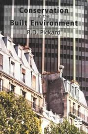 Cover of: Conservation Built Environment