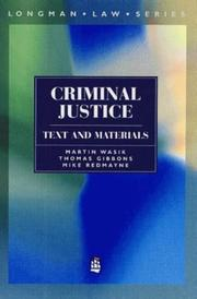 Cover of: Criminal Justice (Longman Law)