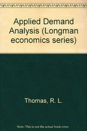 Cover of: Applied demand analysis