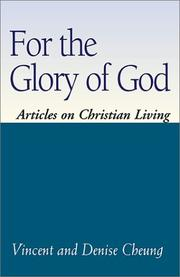 Cover of: For The Glory of God