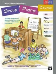 Cover of: Alfred's Basic Group Piano Course, Teacher's Handbook for Books 1 & 2 (Alfred's Basic Piano Library)