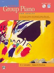 Cover of: Alfred's Group Piano for Adults, Book 1 - Teacher's Handbook