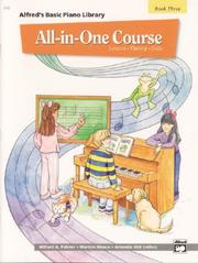 Cover of: Alfred's Basic All-in-one Course for Children, Book 3 (Alfred's Basic Piano Library)