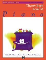 Cover of: Alfred's Basic Piano Course, Theory Book 1a (Universal Edition) (Alfred's Basic Piano Library)