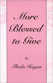 Cover of: More Blessed to Give