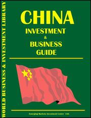 Cover of: China Investment and Business Guide