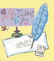 Cover of: My Thanks To You