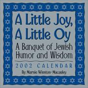 Cover of: A Little Joy, A Little Oy 2002 Day-To-Day Calendar