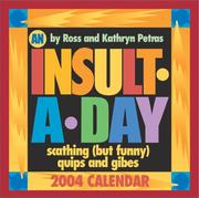 Cover of: An Insult A Day 2004 Day-To-Day Calendar