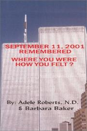 Cover of: September 11, 2001 Remembered
