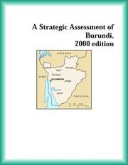 Cover of: A Strategic Assessment of Burundi, 2000 edition (Strategic Planning Series)