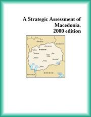 Cover of: A Strategic Assessment of Macedonia, 2000 edition (Strategic Planning Series)