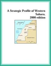 Cover of: A Strategic Profile of Western Sahara, 2000 edition (Strategic Planning Series)