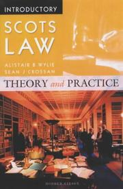 Cover of: Introductory Scots Law