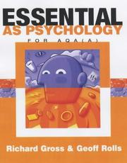 Cover of: Essential As Psychology for Aqa a
