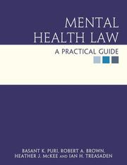 Cover of: Mental Health Law