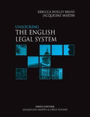 Cover of: Unlocking the English Legal System (Unlocking Law S.)